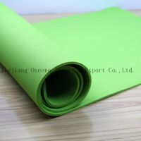 Eco Friendly Green color TPE Exercise Mat Custom