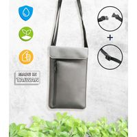 Suede-like Doublepak RFID Zipper Storage Bag