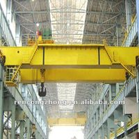 QD model double girder overhead crane with hook