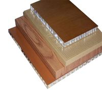honeycomb wood grain pattern fiberglass panel for boat thumbnail image