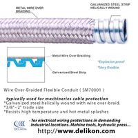 Overbraided Flexible steel conduit with steel braid for steel mills wirings thumbnail image