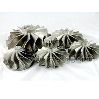 vacuum casting nickel base alloy turbine wheel/impeller used for marine turbocharger spare parts