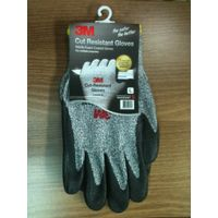 3M Cut Resistant Gloves, Level 5, Dyneema, Nitrile Coated