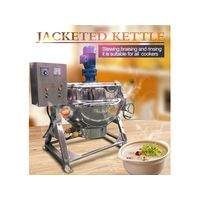 Tilting steam-jacketed kettle with mixer for syrup sauce