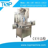 Automatic glass bottle aluminum cap twist off sealing and crown capping machinery