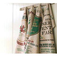 Natural color based linen printed tea towel KL-027