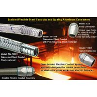 heavy series over Braided Flexible metal Conduit,metal conduit Connector for metal works cables prot thumbnail image