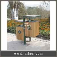 Arlau Outdoor Wooden Furniture,Wooden Waste Bin Wholesale,Wpc Garbage Bin
