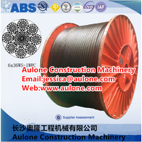 2160mpa,High breaking force crane wire rope,luff rope,non rotating wire rope thumbnail image