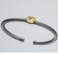 Two Tone Silver Gold 4mm Champagne Citrine Noblesse Bracelet thumbnail image