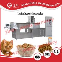 dry pet cat food pellet extruder making machine thumbnail image