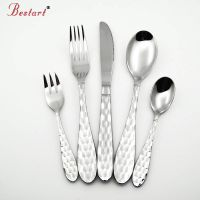 Beautiful high quality stainless steel spoon fork knife wedding cutlery set