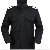 M65-Unisex Parka Jacket with Detachable Warm Lining Military Waterproof Black Color M-65 Field Coat thumbnail image