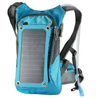 6.5W 1A Sunpower Solar Backpack With Hydration Reservoir