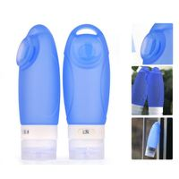 Large 89ml Travel Bottles Portable Squeeze Silicone Package Bottles with Suction Cup and Hanger