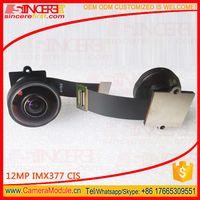 190 degree Wide angle fisheye camera 12MP 4K Sony imx377 camera module for intelligent machine visio thumbnail image