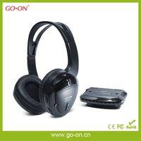 RF/VHF wireless stereo headset for computer,TV