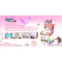Hot Sale Kids Coin Operated Games Candy Lollipop Vending Machine