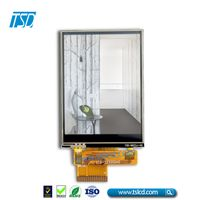 TSD manufacturing Resistive touch LCD 3.2 inch TFT display 240x320 for handheld device