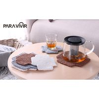 Modern Placemats Blended Cotton Dining Table Mat Heat Insulation Coffee Cup Pad Tableware Coaster thumbnail image
