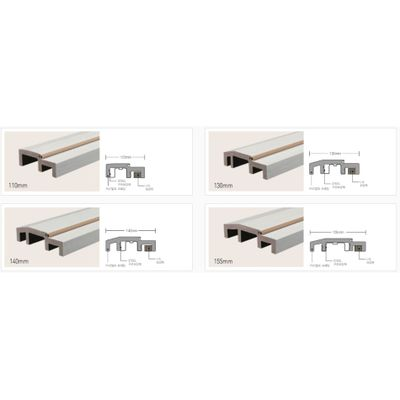 Various types of PVC frame for door