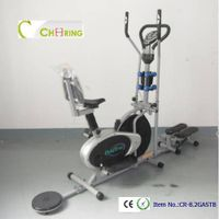 Exercise bike with twister and stepper