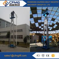 Mobile electric double mast hydraulic aluminum vertical man lift,telescopic man lift
