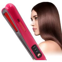 2in1 temperature control wireless straight hair clip ceramic electric splint USB charging hair thumbnail image