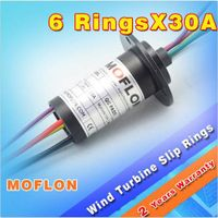LARGE CURRENT SLIP RINGS 30A each @ 6WIRES MOFLON MODEL:MW1630