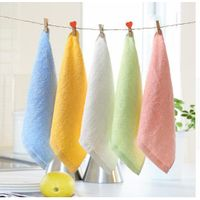 1pcs 2525cm Square Solid Color Bamboo Fiber Soft Face Towel Cotton Hair Hand Bathroom Towels badla