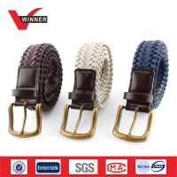 Hand braided Men's casual PU Belts thumbnail image