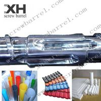 Vented film blowing screw cylinders