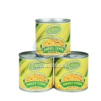 Easy Open Paper Label Canned Fresh Whole Golden Sweet Kernel Corn in Tin