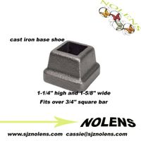 "Cast Iron Base Shoe for 3/4"" Square Bar"