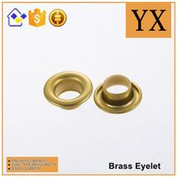 Oval brass eyelets and grommets high quality brass eyelets