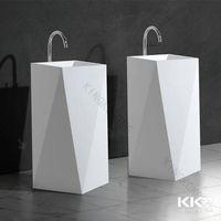 Creative design cheap freestding pedestal basin for dining room