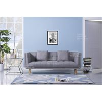 Modern Polyester Fabric Solid Foam Wood Structure Love Seat Sofa
