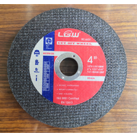 4Inch 107X1.0X16MM Black Color Double Net Super Thin Cut off wheel