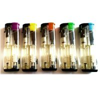 cigarette electronic windproof gas lighters with LED lamp thumbnail image