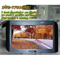 "7"" monitor car digital TV MPEG4 receiver H.264 PVR thumbnail image"