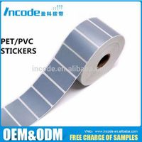Waterproof silver blank PET PVC adhesive barcode stickers thermal transfer label for printer label thumbnail image