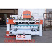 HONGFA NC 8 heads cnc engraving machine wood carving machine column cutting cnc router