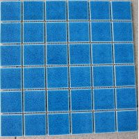 Blue crackled glazed mosaic for swimming pool