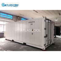 Mobile shipping blast freezer container portable freezing container for seafood and meat