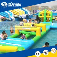big durable inflatable water obstacle course for sale