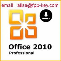 Genuine office 2010 key ,office 2010 professional fpp key