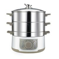 3 tier stainless steel electric food steamer pot