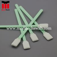 Polyester fiber tipped applicator swabs