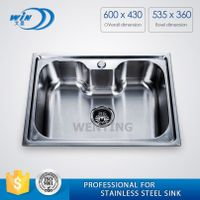 WY-6043 topmount sink with big single bowl