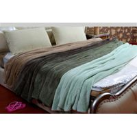 Soft Plain Coral fleece Blanket Rolled Up Travel Blanket With Handle Made In China thumbnail image